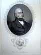 click to view detailed description of An antique engraving of President John Quincy Adams published in 1860
