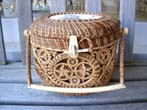 click to view detailed description of A Mattapoisett basket made by Helen Gaster circa 1972