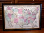 click to view detailed description of A beautifully framed Map of the United States published by Walling and Gray in 1871