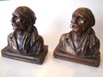 click to view detailed description of A pair of Buccaneer bookends by The Armor Bronze company circa 1928