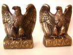 click to view detailed description of A wonderful pair of vintage patriotic American eagle bookends