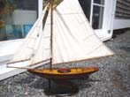 click to view detailed description of A Nantucket Sloop pond boat from the 1940s