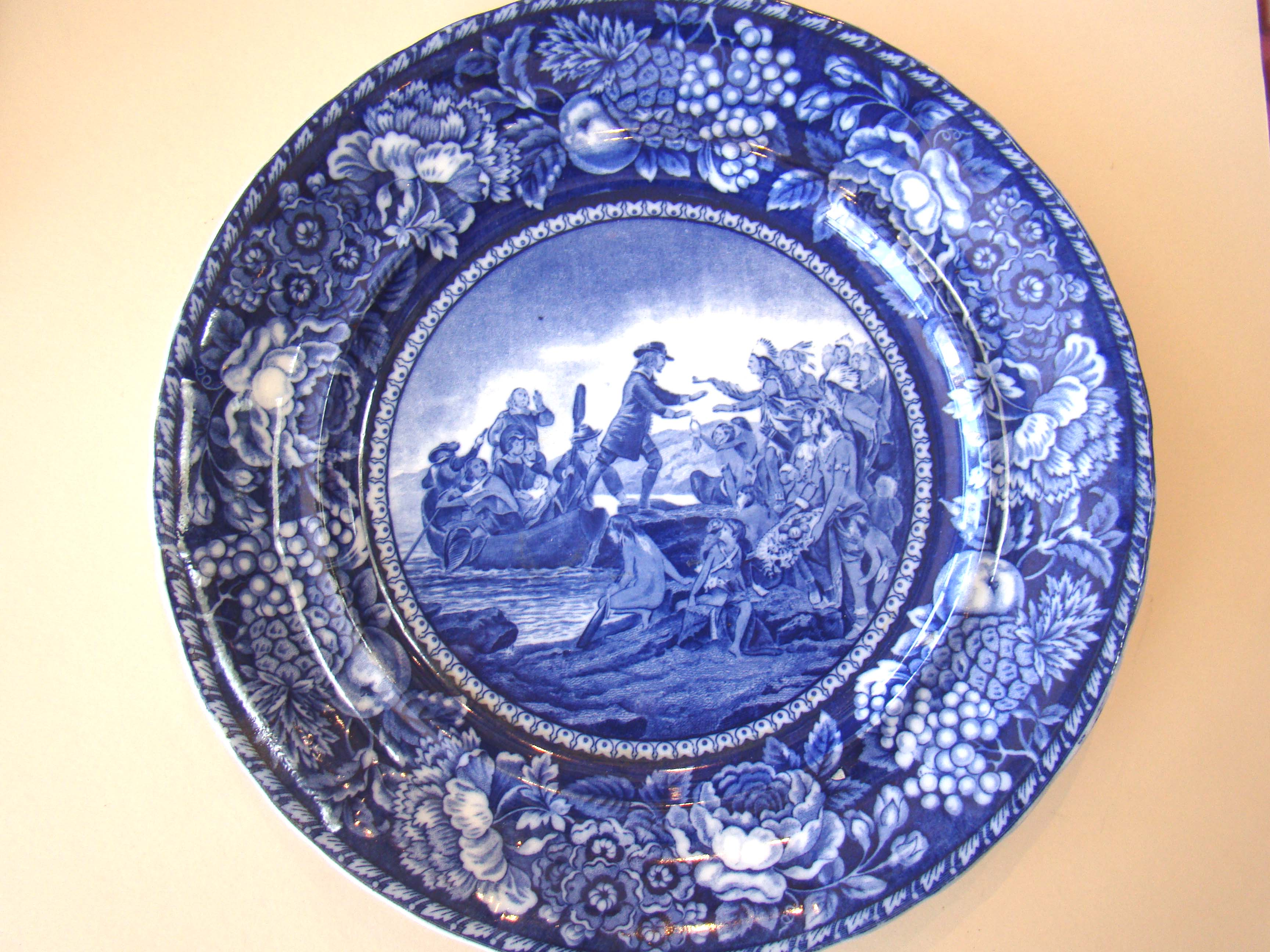 click to view detailed description of An historical plate depicting