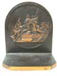 click to view detailed description of A pair of Antique Bookends circa 1930 depicting Washington Crossing the Delaware and Columbus Discovering America