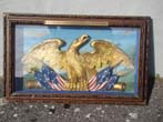 click to view detailed description of A carved eagle removed from the officers wardroom of the Civil War U S Steam Frigate KEARSARGE
