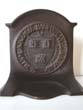 click to view detailed description of A pair of Antique Bookends by Bradley & Hubbard circa 1928 with the seal of HARVARD COLLEGE
