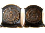 click to view detailed description of A pair of University of Michigan Bookends circa 1960