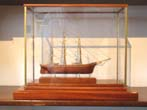 click to view detailed description of A fine late 20th century Cased Miniature Scale Model of the Clipper Ship
