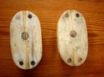 click to view detailed description of A superb pair of large 19th century Whalebone double Blocks