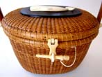 click to view detailed description of A fabulous Jose Reyes Nantucket Friendship basket dated 1969