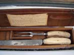 click to view detailed description of An historic carving set made from salvaged materials taken from the wreck of HMS Royal George