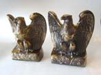 click to view detailed description of A charming and patriotic pair of American eagle bookends