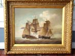 click to view detailed description of A fine LOUIS DODD Naval Battle painting