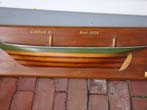 click to view detailed description of A fine vintage carved and painted half hull model of the ship CIRRUS II built in 1905