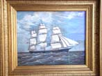 click to view detailed description of An American clipper ship by William Pierce Stubbs circa 1890