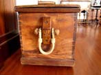 click to view detailed description of A fine early 19th century Camphorwood seamans chest circa 1830
