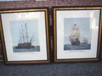 click to view detailed description of A fine pair of hand colored engravings of