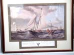 click to view detailed description of A fine hand colored engraving of the yacht