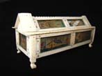 click to view detailed description of A fine Napoleonic Prisoner-of-war carved bone game casket circa 1810