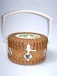click to view detailed description of An Exquisite MATTAPOISETT Basket by the leading artist in the field Kathy Campbell