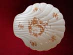 click to view detailed description of A fine French Limoges bone china scallop plate in the Chinese style circa 1900