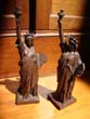 click to view detailed description of A RARE pair of Statue of Liberty bookends from the 1940s