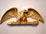click to view detailed description of An attractive vintage gilt plaster American eagle plaque