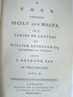 click to view detailed description of A Tour through SICILY and MALTA by P. Brydone and published in 1773 in London