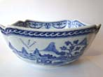 click to view detailed description of A gorgeous19th century Chinese cut-corner bowl