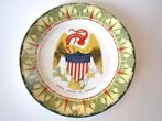 click to view detailed description of A fabulous American Emblem series plate with 44 star shield made in 1901.
