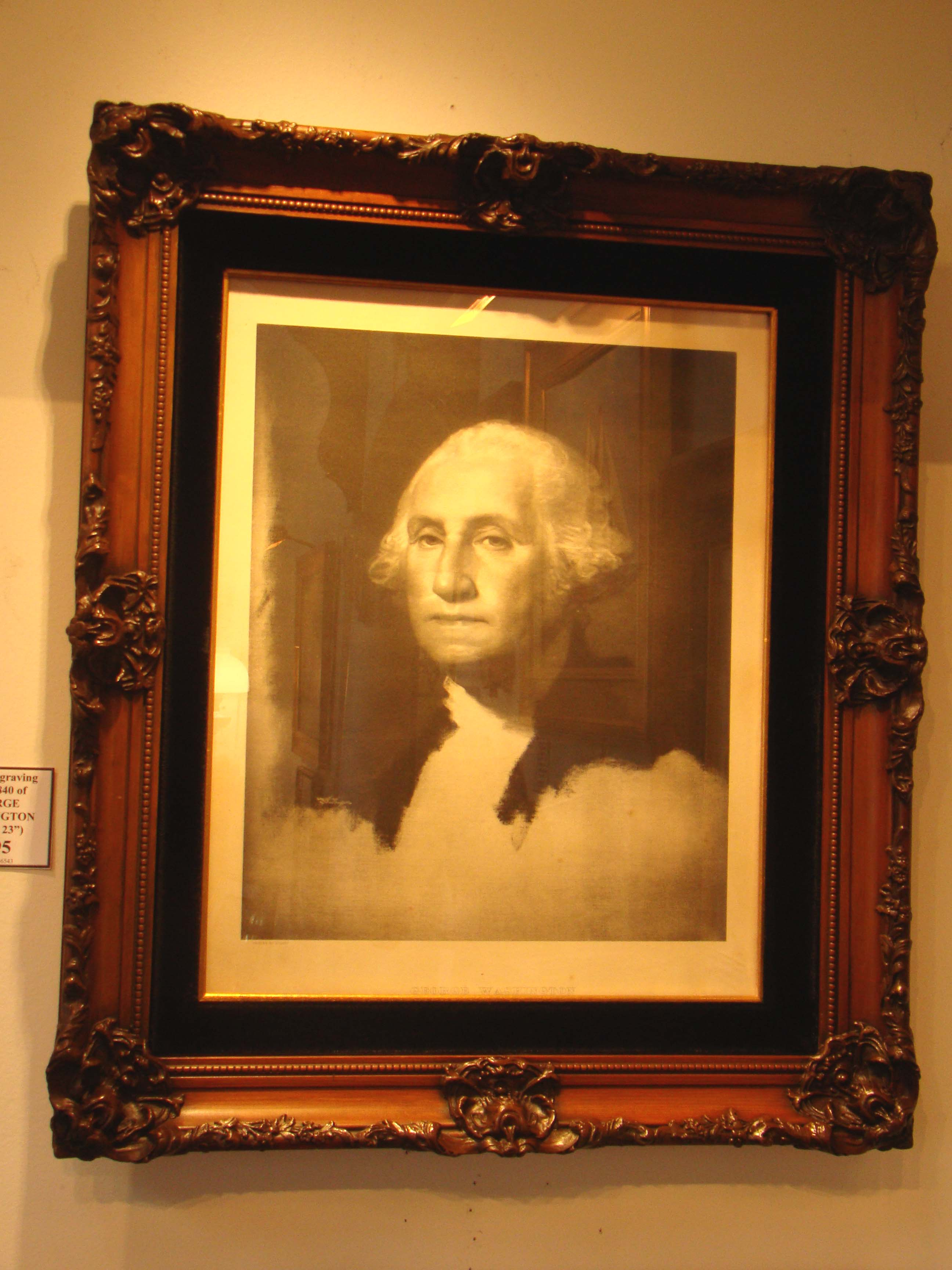 click to view detailed description of A fine print of George Washington done in 1901