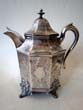 click to view detailed description of A fine coin silver coffee pot made for Capt. Henry Windle circa 1846