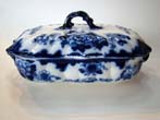 click to view detailed description of A lovely vintage covered vegetable dish marked Gresham B & S