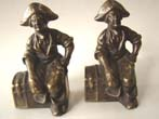 click to view detailed description of A fine pair of Pirate sitting on a treasure chest bookends circa 1928