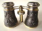 click to view detailed description of A beautiful pair of French opera glasses by Chevalier of Paris circa 1900