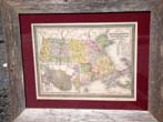 click to view detailed description of Original hand colored map of Massachusetts & Rhode Island published in 1850
