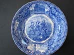 click to view detailed description of A rare vintage souvenir plate circa 1910 featuring