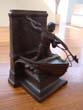 click to view detailed description of A fine single New Bedford Whaling Monument bookend by Jennings Brothers circa 1925