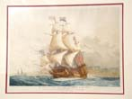 click to view detailed description of A fine hand colored 'artists proof' watercolor drawing of 'His Majesty's Royal Ship The Sovereign of the Seas built in 1637.'