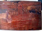 click to view detailed description of A fine and rare late 19th century copper printing plate featuring the U.S. Mail Paddle Wheeler