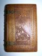 click to view detailed description of  A rare 19th century carved Wood Three Piece Book Cover for