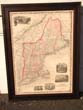 click to view detailed description of A beautiful Map of New England by Alvin Johnson published in 1862