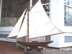 click to view detailed description of A NANTUCKET Sloop pond boat circa 1930-1940
