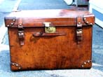 click to view detailed description of A Fine Late 19th century English Leather Officers Boot Trunk circa 1875