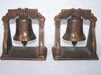 click to view detailed description of A nice pair of Antique Bookends depicting the LIBERTY BELL circa 1930