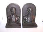 click to view detailed description of A Pair of Antique Bookends circa 1925 depicting RALPH WALDO EMERSON (1803-1882), famous orator and poet.