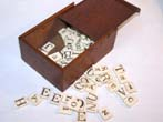 click to view detailed description of A Good set of 19th century Ivory Alphabets (90 pieces) circa 1830-1850