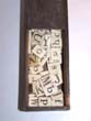click to view detailed description of A Boxed set of 19th century Ivory or Bone Alphabets, 63 pieces, circa 1840