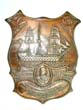 click to view detailed description of An engraved Admiral Lord Nelson Memorial Plaque made from copper taken from HMS VICTORY and dated 1907