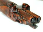 click to view detailed description of A RARE late 18th century Carved Snuff Box in the form of a Double-Barrelled Flintlock Pistol
